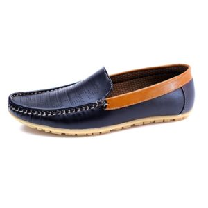 ac19eb5be1e62 ... Latest Loafer Shoes For Men In 2 Tone Leather Finish
